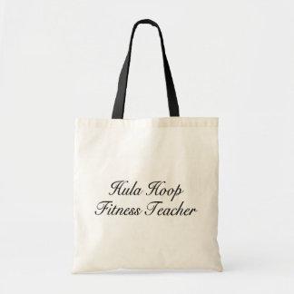 Hula Hoop Fitness Teacher Tote Bags