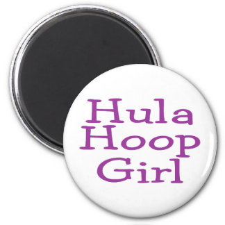 Hula Hoop Girl 6 Cm Round Magnet