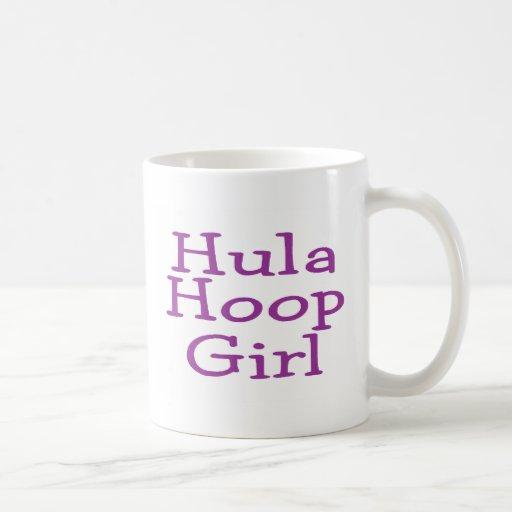 Hula Hoop Girl Basic White Mug