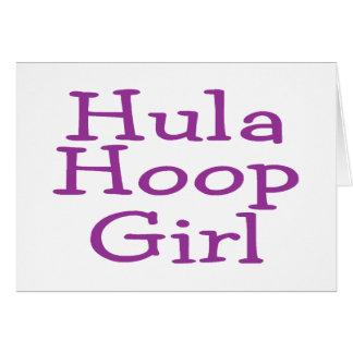 Hula Hoop Girl Greeting Card