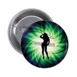 Hula Hoop Girl; Cool Pinback Button