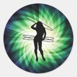 Hula Hoop Girl; Cool Stickers