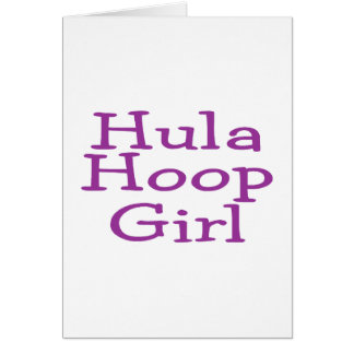 Hula Hoop Girl Greeting Card