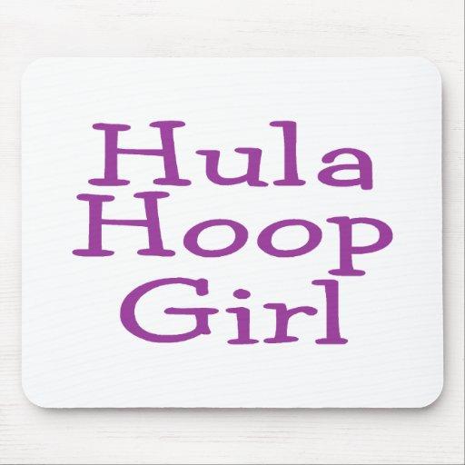 Hula Hoop Girl Mouse Pads