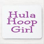 Hula Hoop Girl Mousepads