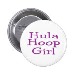 Hula Hoop Girl Pinback Buttons