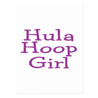 Hula Hoop Girl Postcard