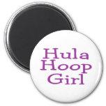 Hula Hoop Girl Refrigerator Magnet