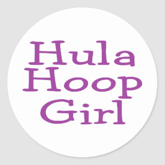 Hula Hoop Girl Round Sticker