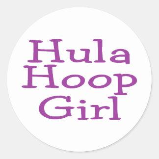 Hula Hoop Girl Stickers