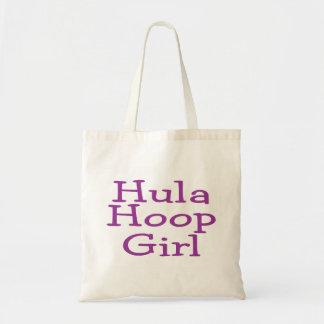 Hula Hoop Girl Tote Bags