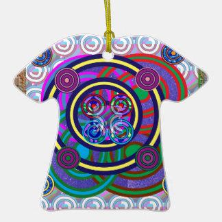 Hula Hoop Girls Game Round Circle Design Ceramic T-Shirt Decoration