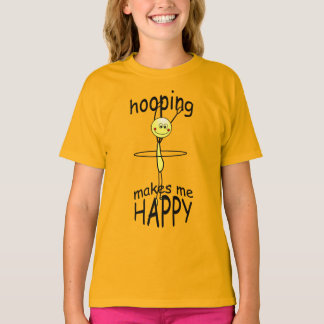 Hula Hoop Hooping Happy Funny T-shirt