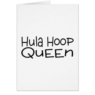 Hula Hoop Queen Greeting Card