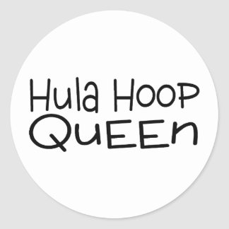 Hula Hoop Queen Round Sticker