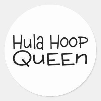 Hula Hoop Queen Stickers