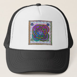 Hula Hoop Round Colorful Circles Trucker Hat