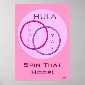 Hula Hoop Spinning Poster
