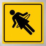 Hula Hoop Zone Highway Sign Poster
