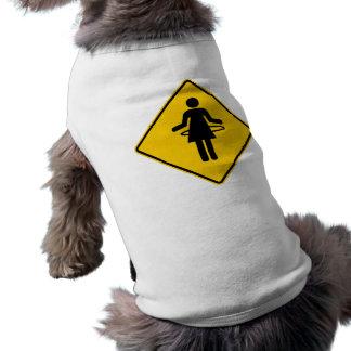 Hula Hoop Zone Highway Sign Sleeveless Dog Shirt
