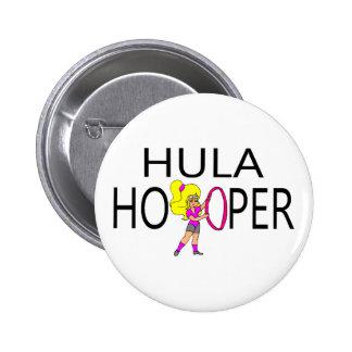 Hula Hooper Girl Button