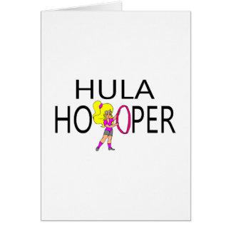Hula Hooper Girl Greeting Card