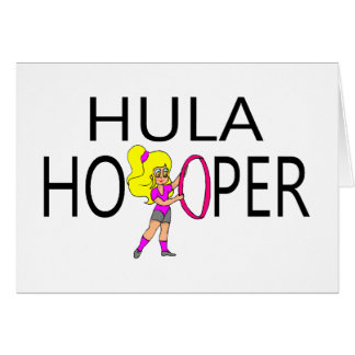 Hula Hooper Girl Greeting Card