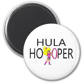 Hula Hooper Girl Fridge Magnets
