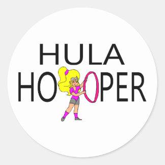 Hula Hooper Girl Round Sticker