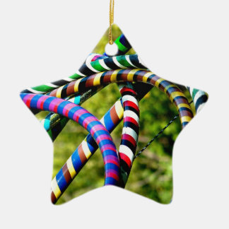 Hula Hooping in Style Christmas Ornament