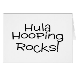Hula Hooping Rocks Greeting Card
