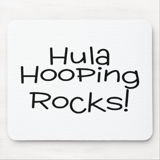 Hula Hooping Rocks Mouse Pad