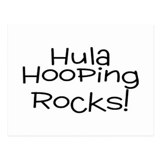 Hula Hooping Rocks Postcard