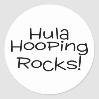Hula Hooping Rocks Round Stickers