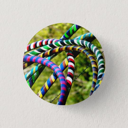 Hula Hoops 3 Cm Round Badge