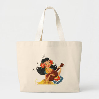 Hula Hula Girl Large Tote Bag