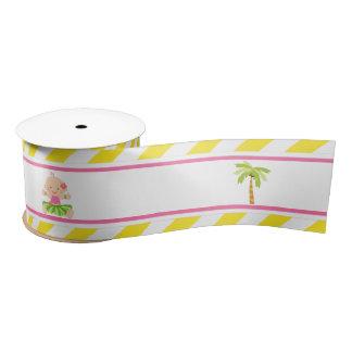 Hula Tropical Girl Satin Ribbon