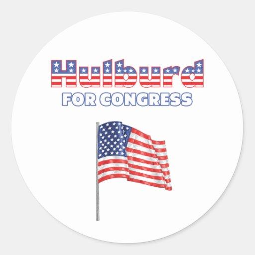 Hulburd for Congress Patriotic American Flag Desig Sticker