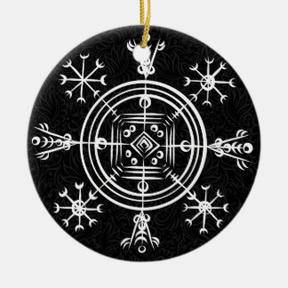 Hulinhjalmur Icelandic magical sign Christmas Ornament