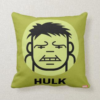 Hulk Stylized Line Art Icon Cushion