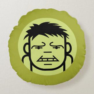 Hulk Stylized Line Art Icon Round Cushion