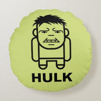 Hulk Stylized Line Art Round Cushion