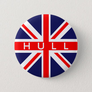 Hull : British Flag 6 Cm Round Badge