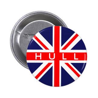 Hull : British Flag 6 Cm Round Badge
