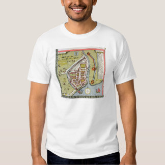 Hull, detail from map of North and East Ridings T Shirt
