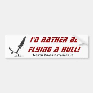 Hull Flying Sticker Bumper Sticker
