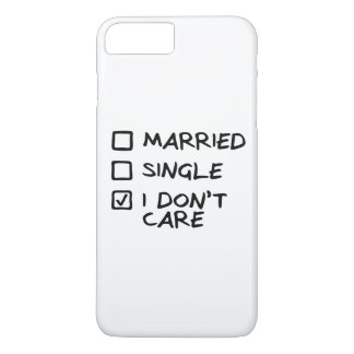 "Hull iPhone 7+ ""I don' T care"" (I give myself iPhone 8 Plus/7 Plus Case"