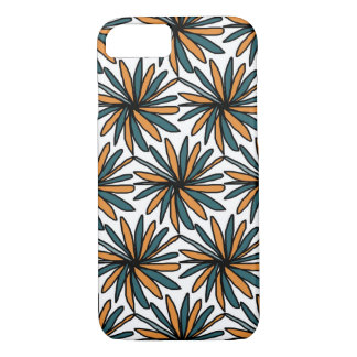 Hull of portable with turquoise and orange reason iPhone 8/7 case