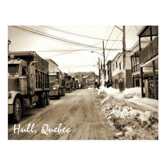Hull Quebec Salt Trucks Winter Gritty Street Sepia