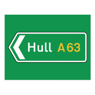 Hull, UK Road Sign Postcard
